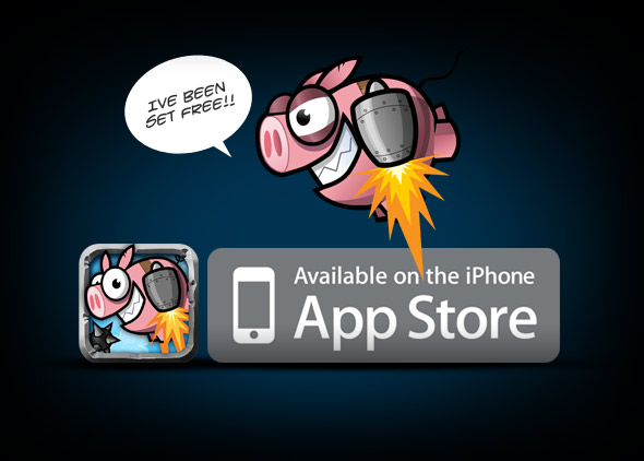 Super Turbo Action Pig is now available in the app store.