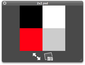 Fig 1. Photoshop 2 pixel wide by 2 pixel high square